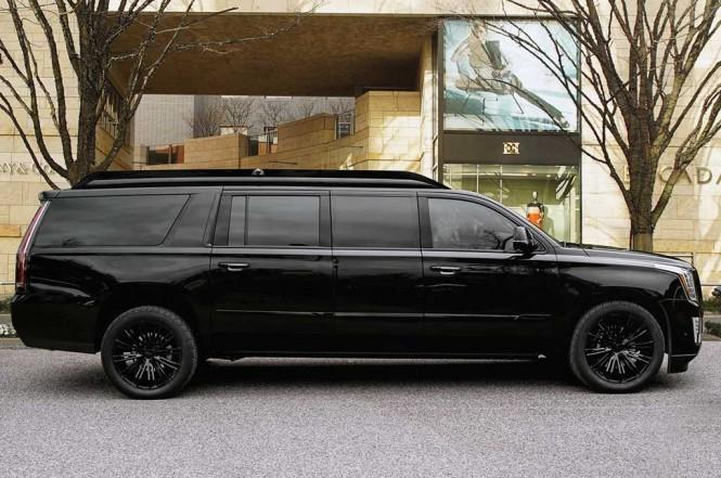 Mewahnya modifikasi Cadillac Escalade ESV. Carscoops