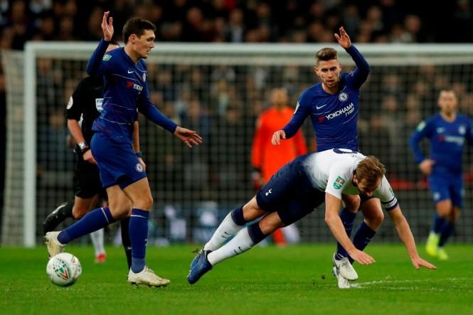 Chelsea vs Tottenham Hotspur (Foto:AFP/ADRIAN DENNIS)