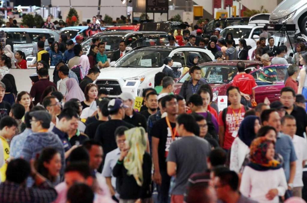 Angka penjualan mobil di 2018 hanya naik tipis tapi sesuai dengan target dari Gabungan Industri Kendaraan Bermotor Indonesia. MI/Ramdhani