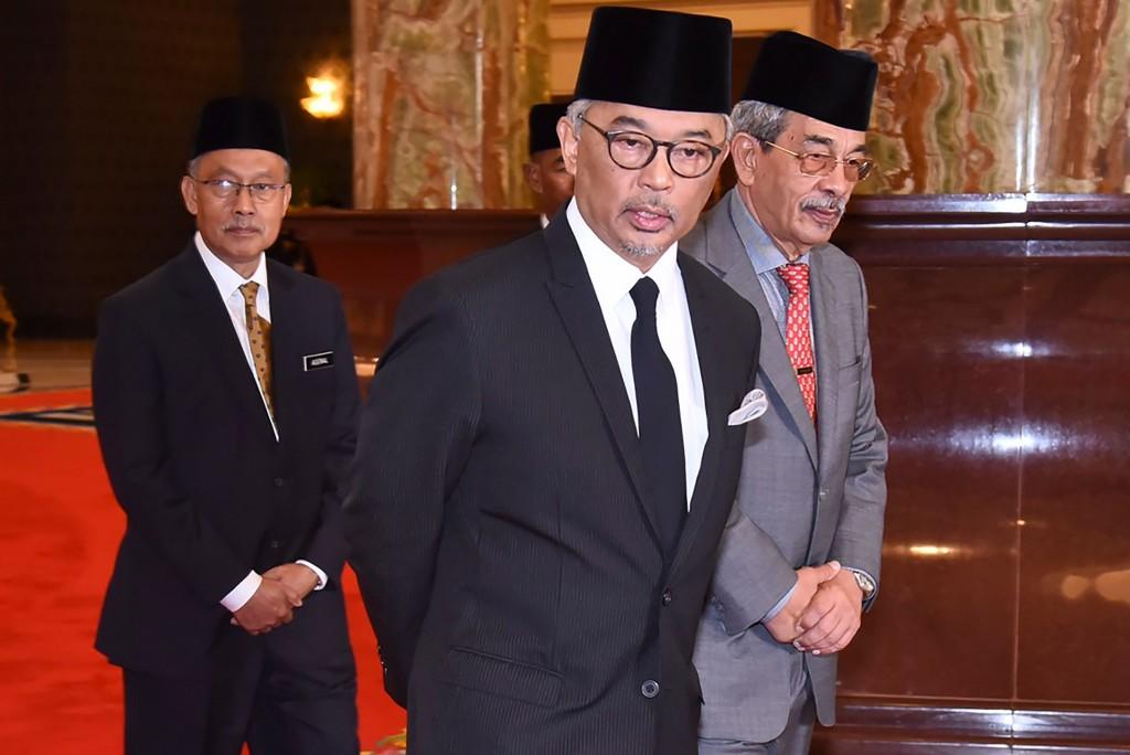 Sultan Abdullah Shah menggantikan posisi Sultan Muhammad V sebagai Yang Dipertuan Agung ke-16. (Foto: AFP).