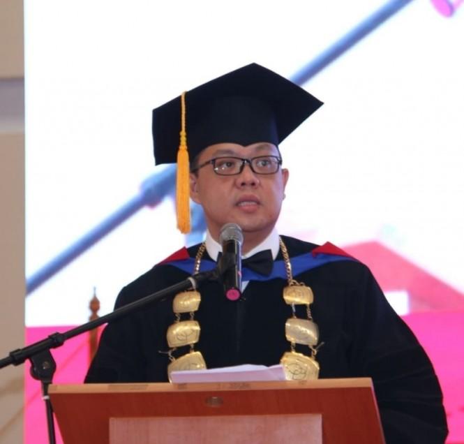 Rektor President University, Jony Oktavian Haryanto di kampus President University, Cikarang.  Dokumentasi PU.