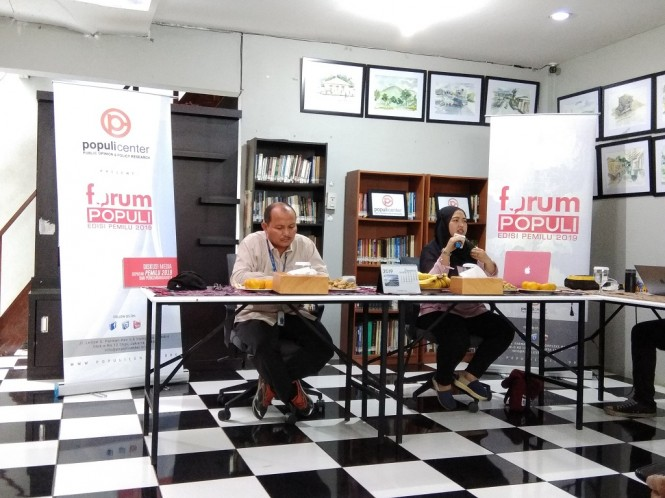 Diskusi bertajuk 'Disinformasi dalam Demokrasi' - Medcom.id/Fachri Audhia Hafiez.