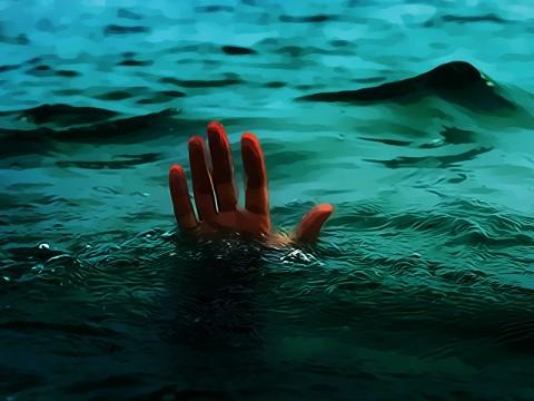 Satu Bocah Hilang Terseret Arus Sungai Ciliwung