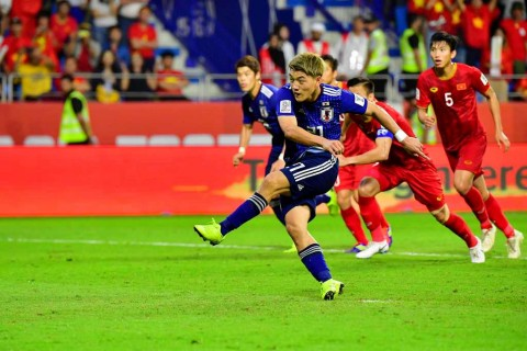 Jepang Hentikan Kejutan Vietnam di Piala Asia