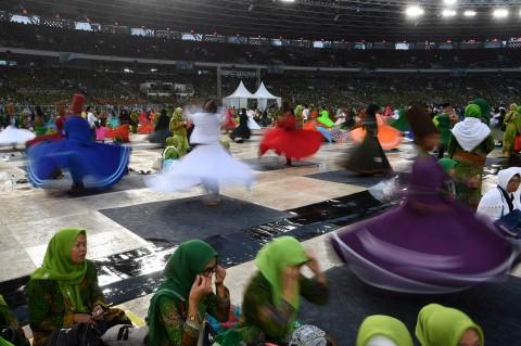 999 Penari Sufi di Harlah Muslimat NU Pecahkan Rekor MURI