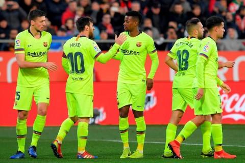 Barcelona Benamkan 10 Pemain Girona