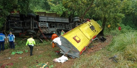 Kecelakaan Bus di Cipularang, 7 Penumpang Tewas