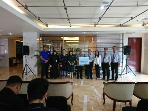 JEC Salurkan Bantuan Korban Bencana Melalui Media Group