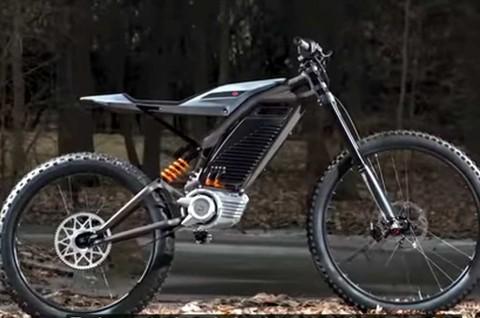 Harley Davidson Pamer Motor Listrik Konsep