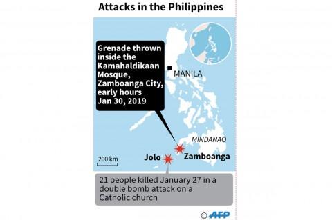 Granat Dilempar ke Masjid di Filipina, Dua Orang Tewas