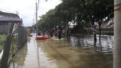 Perumahan Garden City Terendam Banjir Hingga 80 Sentimeter