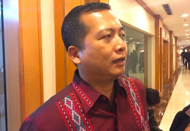 Direktur Perlindungan WNI dan Badan Hukum Indonesia Kementerian Luar Negeri RI Lalu Muhamad Iqbal. (Foto: Marcheilla Ariesta/Medcom.id).