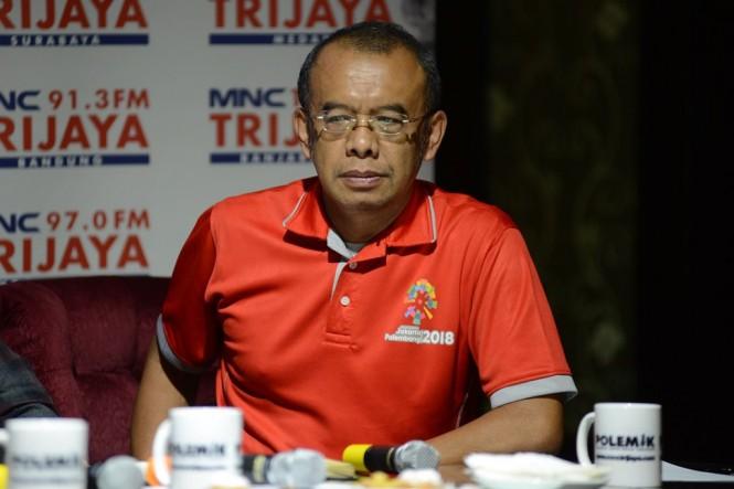 Sekretaris Kemenpora, Gatot Dewabroto, dalam diskusi polemik di Jakarta. (MI/Susanto)
