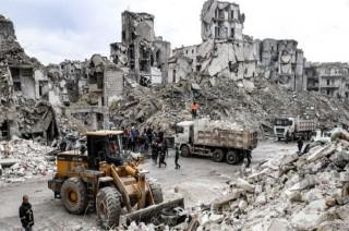 Apartemen Roboh di Suriah Tewaskan 11 Orang