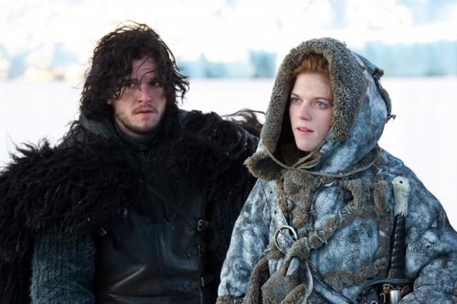 Kit Harrington dan Rose Leslie dalam Game of Thrones (HBO)