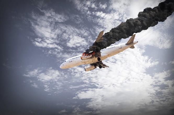 Ilustrasi pesawat jatuh. (Foto: Medcom.id)