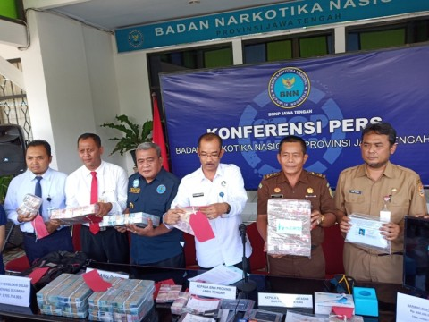 BNNP Jateng Ungkap Kasus Pencucian Uang Rp4,8 Miliar