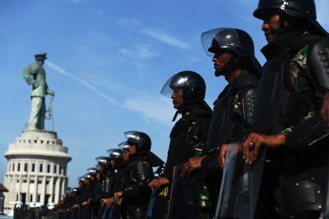 Koarmada II Surabaya Gelar Simulasi Pengamanan Pemilu