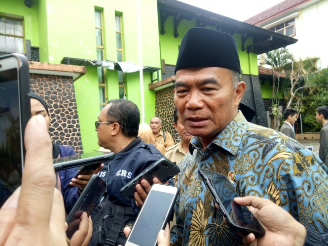 Menteri Pendidikan dan Kebudayaan (Mendikbud), Muhadjir Effendy  di Malang.