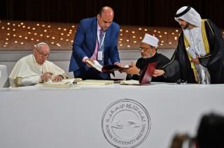 Fransiskus dan Imam Al-Azhar Tandatangani Deklarasi Damai