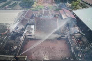 Vihara Samudra Bhakti Bandung Terbakar