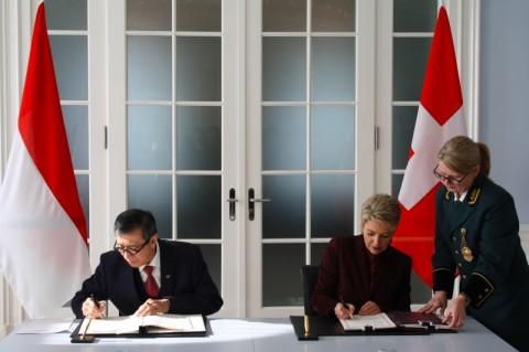 RI-Swiss Tandatangani Perjanjian Bantuan Timbal Balik Pidana
