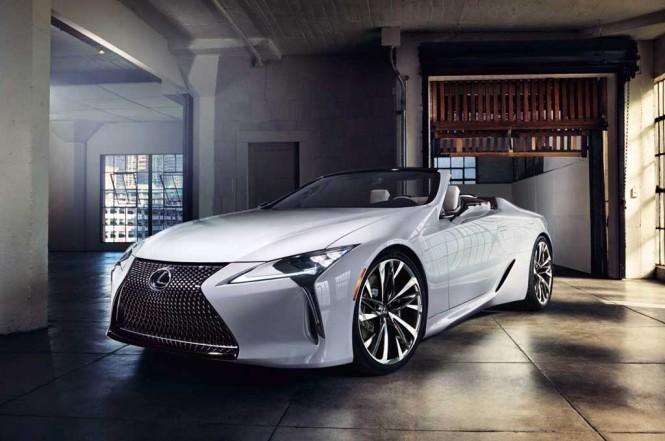 Lexus LC Convertible concept. Carscoops