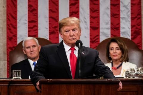 Trump Tegaskan Tembok Perbatasan Akan Tetap Dibangun