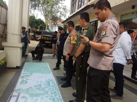 Kaca Pecah di PN Depok Bukan Karena Dilempar