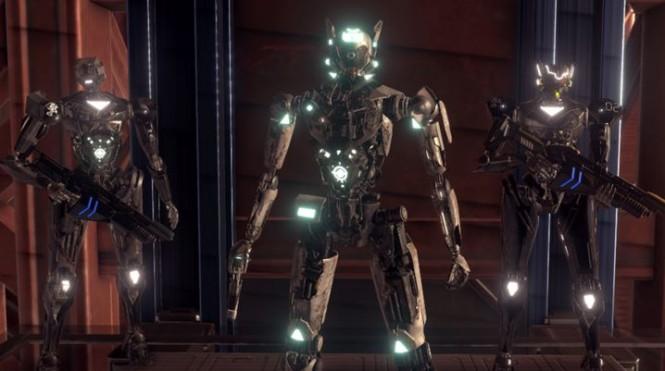 Di Amber Sky, Anda akan menjadi robot yang melawan serangan alien.