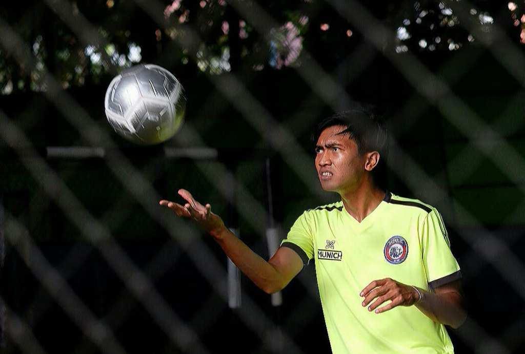 Gelandang muda Arema FC Jayus Hariono siap membuktikan diri saat Arema berhadapan dengan Timnas U-22 (Foto: Dok. Arema)