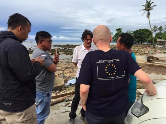 Uni Eropa memberikan bantuan kepada korban tsunami Selat Sunda. (Foto: Uni Eropa).