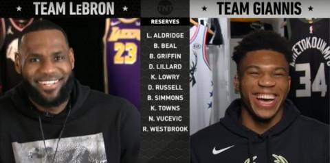 Skuat NBA All Star 2019 Pilihan LeBron James dan Giannis Antetokounmpo