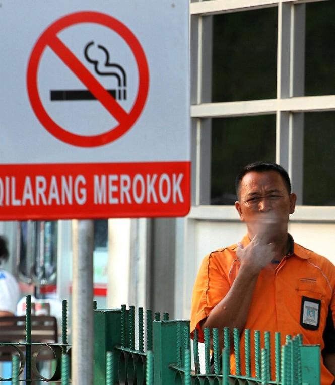 Ilustrasi kawasan tanpa rokok. MI/ Arya Manggala
