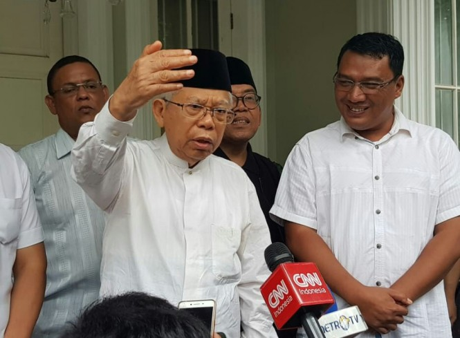 Calon wakil presiden nomor urut 01 Ma'ruf Amin. Foto: Medcom.id/Arga Sumantri.