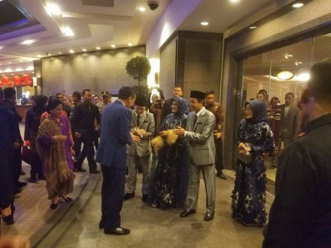 Jokowi dan Prabowo Menghadiri Pernikahan Anak Ketum PBNU