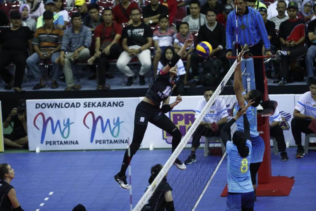 Tim putri Jakarta BNI 46 melawan Bandung Bank BJB. (Foto: Humas Proliga 2019)