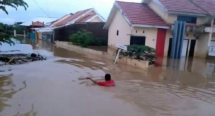 Ilustrasi banjir. Medcom.id Muhammad Syawaluddin