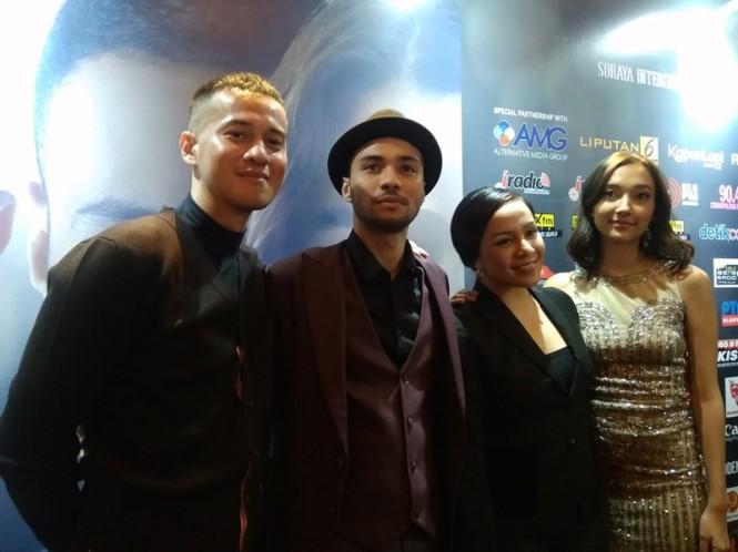 Para Pemain film Antologi Rasa di XXI Plaza Senayan, Jakarta Pusat, Sabtu 9 Februari 2019. (Foto: Medcom.id/Cecylia Rura)