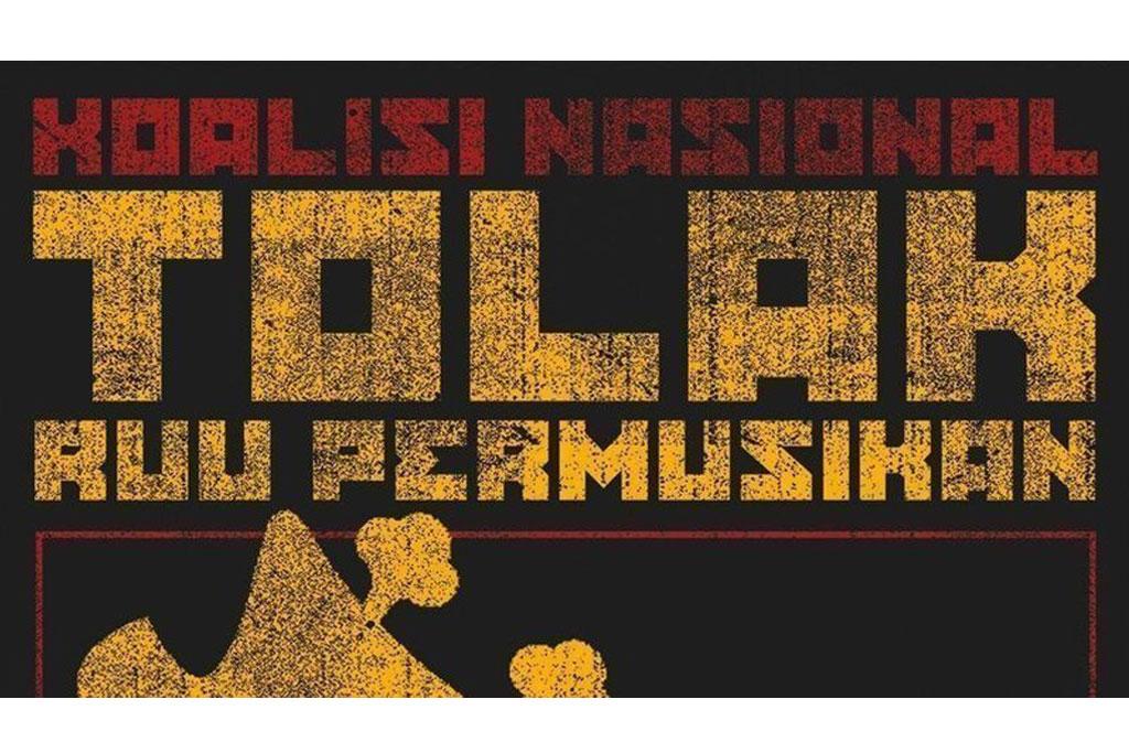 Poster Koalisi Tolak RUU Permusikan (Foto: via change.org - Petisi Tolak RUU Permusikan)