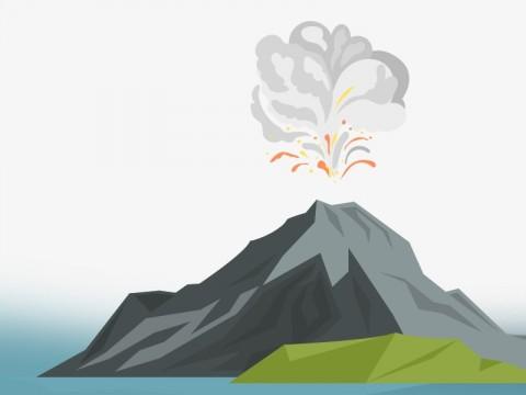 Guguran Lava Gunung Karangetang Mengalir ke Sungai