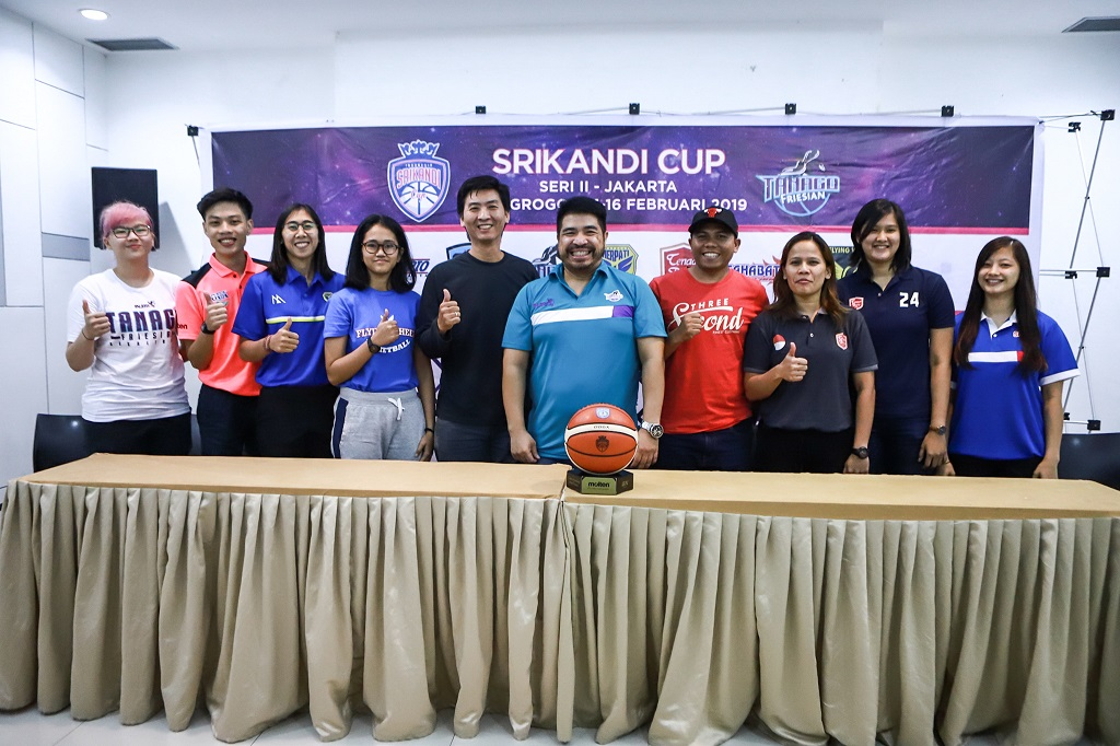 Sesi jumpa pers seri kedua kompetisi bola basket putri Srikandi Cup 2018--2019, Minggu (10/2) (Istimewa)