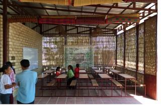 Singkong dan Bambu Jadi Bahan Utama Bangun Sekolah