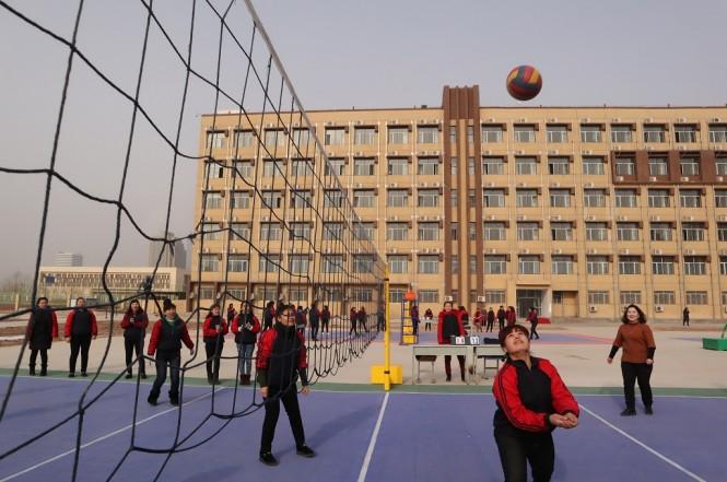 Para peserta didik kamp pendidikan vokasi etnis Uighur di Kota Kashgar, Daerah Otonomi Xinjiang, 3 Januari 2019. (Foto: Antara/M. IRFAN ILMIE)