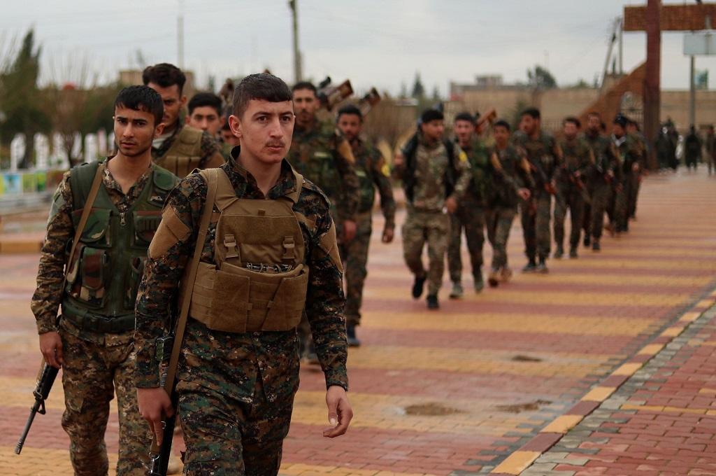 Pasukan Demokratik Suriah atau SDF. (Foto: AFP/DELIL SOULEIMAN)