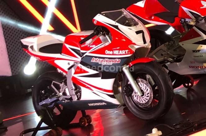 Honda NSF100 yang bakal digunakan untuk melakukan pembibitan pembalap muda di Indonesia. medcom.id/Ahmad Garuda