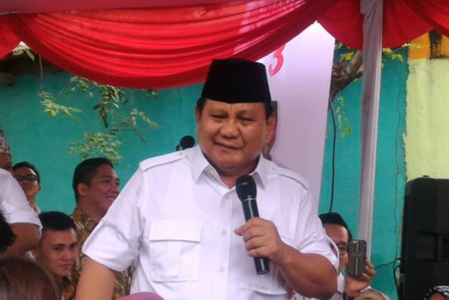 Calon Presiden nomor urut 02, Prabowo Subianto. Medcom.id/ Whisnu M