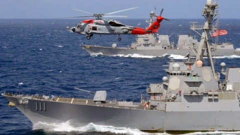Kapal AS Tantang Klaim Tiongkok di Laut China Selatan