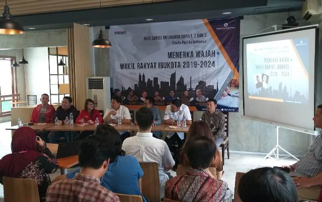 ILustrasi--Suasana konferensi pers Charta Politika Indonesia. Foto: Medcom.id/Fachri.