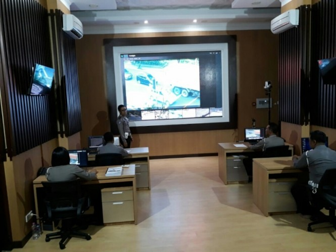 Ruang Traffic Management Control (TMC) di Satlantas Polresta Solo